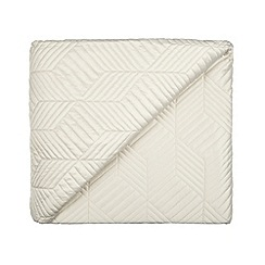 Home Collection - Natural quilted 'Hollywood' matte satin throw
