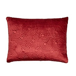 Home Collection - Red velvet circle cushion