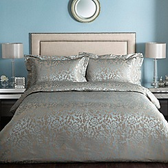 Home Collection - Aqua 'Lucille' floral satin bedding set