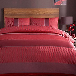 Home Collection - Red 'Sophia' bed linen