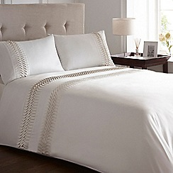 Home Collection - Ivory 'Origami' pleat bed linen