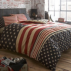 Home Collection - Navy 'Stars and stripes' bed linen