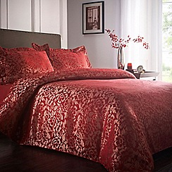 Home Collection - Red 'Lucille' floral pattern bedding set