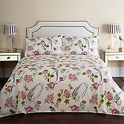 Home Collection - Cream floral print 'Pavillion' bedding set