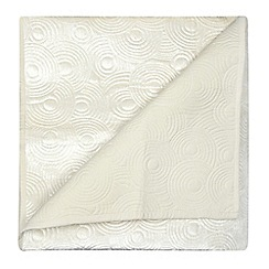 Home Collection - Cream velvet circles throw