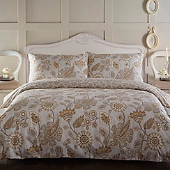 Home Collection - Cream floral print 'Jacobean' bedding set
