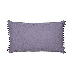 Home Collection - Lilac 'Georgia' embroidered cushion