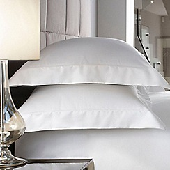 J by Jasper Conran - White 600 thread count 'Hotel Sicily' standard pillowcase pair