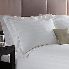 J by Jasper Conran - White 'Hotel Capri' pillow case pair
