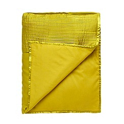 J by Jasper Conran - Designer yellow pleated satin runner