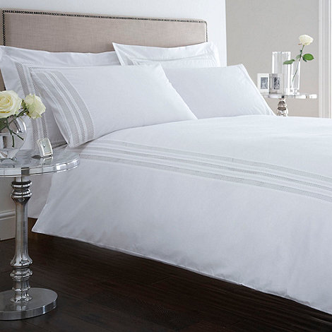 J by Jasper Conran - Designer white +Brindley+ bed linen