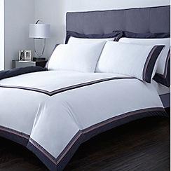 J by Jasper Conran - Designer navy 'Cambrain' bed linen