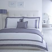 Designer white 'Grosvenor' bed linen