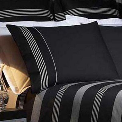 J by Jasper Conran Black 'Park Avenue' 260 thread count pillow case pair - . -