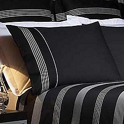 J by Jasper Conran - Black 260 thread count 'Park Avenue' pillow case pair