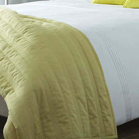J by Jasper Conran - Yellow chevron quilted throw