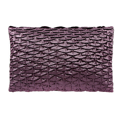 J by Jasper Conran - Plum +Heaven+ tiered pleat front cushion