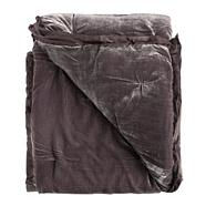 Dark purple velvet throw