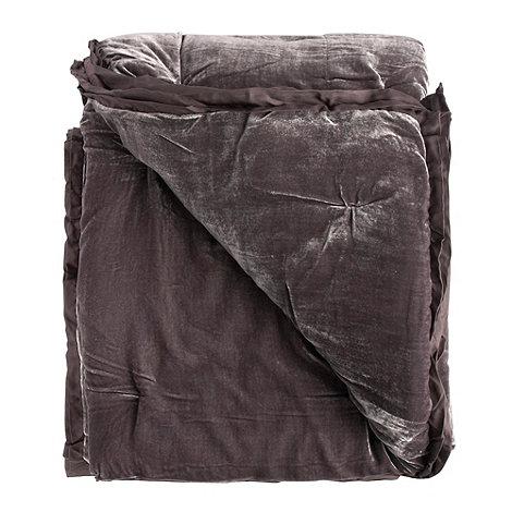 J by Jasper Conran - Dark purple velvet throw