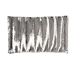 J by Jasper Conran - Grey textured striped faux fur cushion