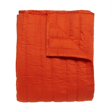 J by Jasper Conran - Designer orange quilted cotton throw