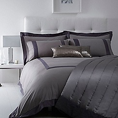 J by Jasper Conran - Grey 240 thread count 'Mayfair' duvet cover