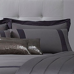 J by Jasper Conran - Grey 'Mayfair' pillow case pair