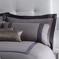J by Jasper Conran - Grey 'Mayfair' Oxford pillow case pair