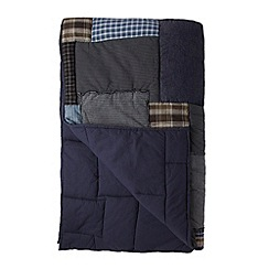 J by Jasper Conran - Designer blue patchwork throw