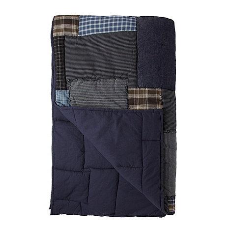 J by Jasper Conran - Designer blue patchwork throw