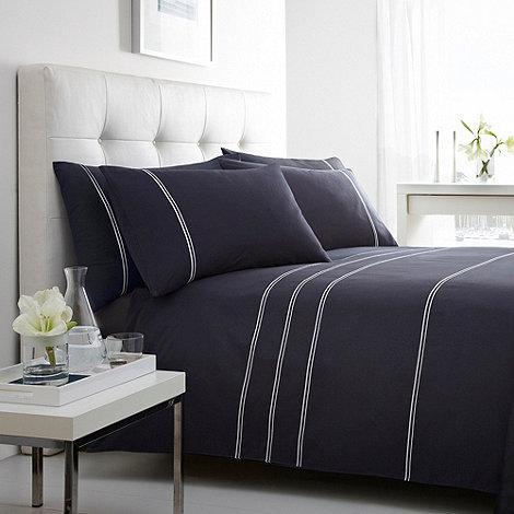 J by Jasper Conran - Navy +Alfreda+ striped bed linen