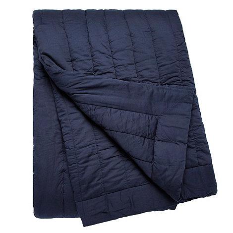 J by Jasper Conran - Navy quilted bedspread