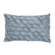 Designer blue stitch pleated cushion