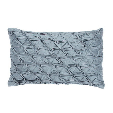 J by Jasper Conran - Designer blue stitch pleated cushion