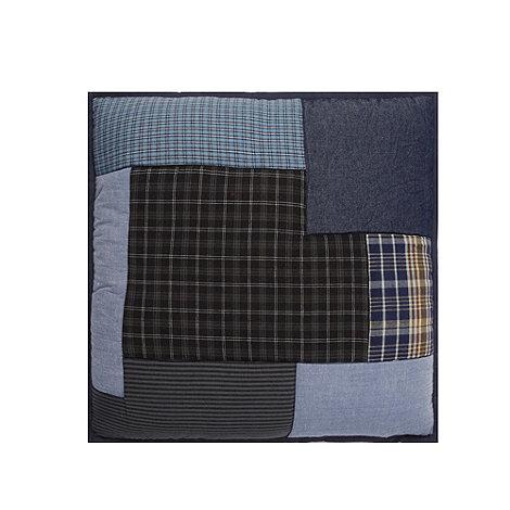 J by Jasper Conran - Designer blue patchwork cushion