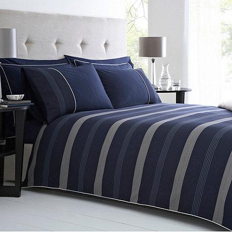 J by Jasper Conran - Navy +Park Lane+ bed linen