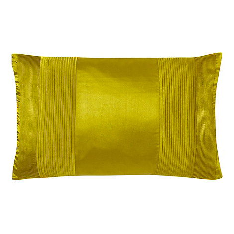 J by Jasper Conran - Designer yellow satin pintuck cushion