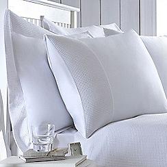 J by Jasper Conran - White 200 thread count 'Dorset' Oxford pillow case pair