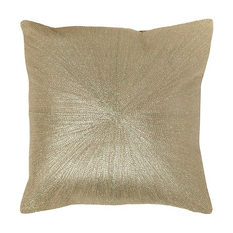J by Jasper Conran - Designer gold metallic cushion