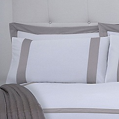 J by Jasper Conran - Cream 'Savoy' 240 thread count pillow case pair