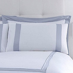 J by Jasper Conran - White 240 thread count 'Dorchester' Oxford pillow case pair