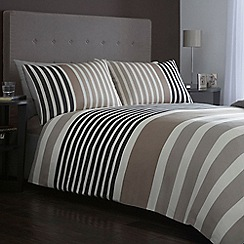 J by Jasper Conran - Designer 'pimlico' natural block stripe bed linen
