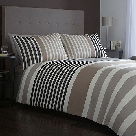 J by Jasper Conran - Designer +pimlico+ natural block stripe bed linen