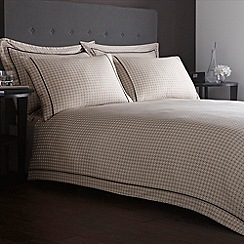 J by Jasper Conran - Designer natural piped border dotted sateen bed linen
