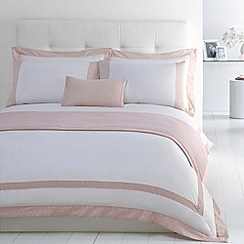 J by Jasper Conran - Designer pink 'Beaufort' cotton sateen bed linen