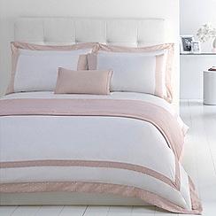 J by Jasper Conran - Designer pink 'Beaufort' cotton sateen bed linen