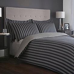 J by Jasper Conran - Designer black woven stripe 'Regent' bed linen
