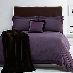 J by Jasper Conran - Designer purple 'Pembridge' cotton sateen bed linen