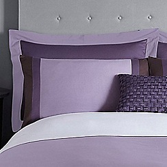 J by Jasper Conran - Purple 'Maddox' 200 thread count pillow case pair