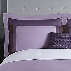 J by Jasper Conran - Purple 200 thread count 'Maddox' Oxford pillow case pair